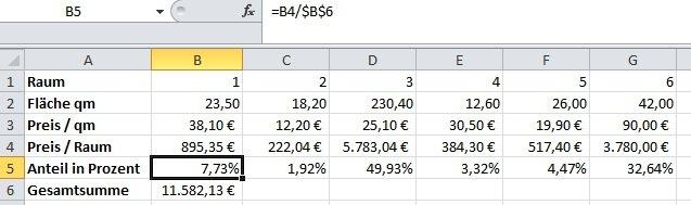 Excel Berechnung Eines Prozentualen Anteil Computerwissen De