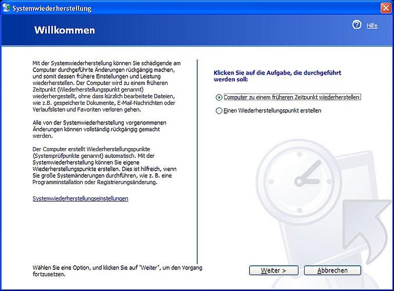 Windows Xp Systemwiederherstellung
